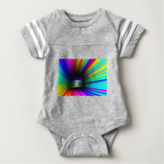 Abstract colorful tunnel baby bodysuit