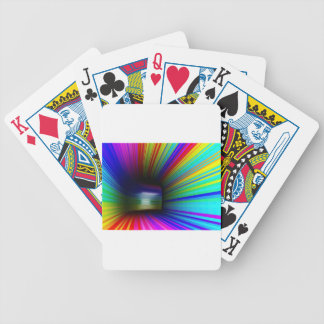 Abstract colorful tunnel bicycle playing cards