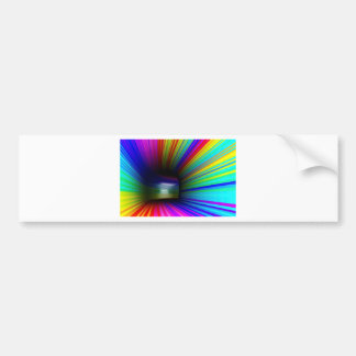 Abstract colorful tunnel bumper sticker