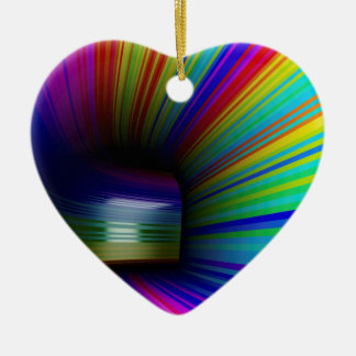Abstract colorful tunnel ceramic ornament