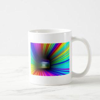 Abstract colorful tunnel coffee mug