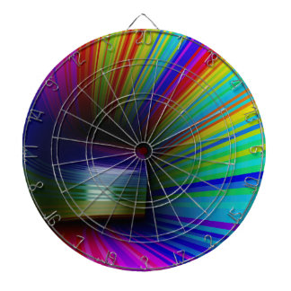 Abstract colorful tunnel dartboard
