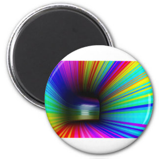 Abstract colorful tunnel magnet