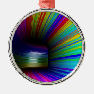 Abstract colorful tunnel metal ornament