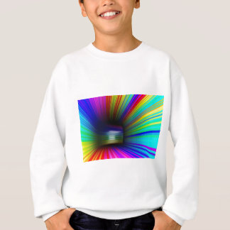 Abstract colorful tunnel sweatshirt