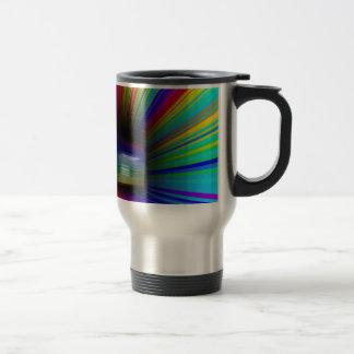 Abstract colorful tunnel travel mug