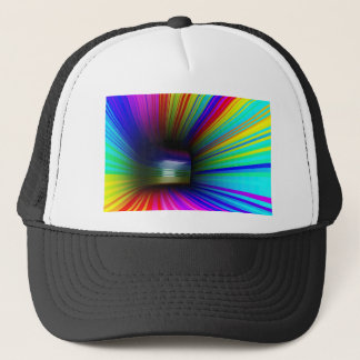 Abstract colorful tunnel trucker hat