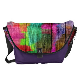 Abstract Colorful Watercolor Pattern Courier Bags