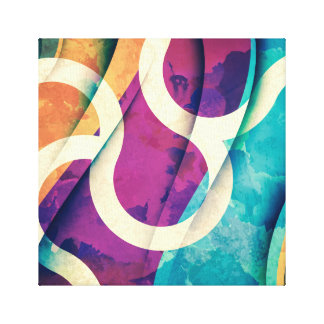 Abstract Colorful Wrapped Canvas