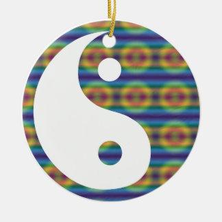 Abstract Colorful Yin Yang Ceramic Ornament
