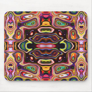 Abstract Colors And Shapes Mouse Pad