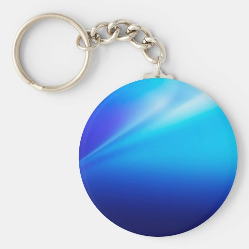 Abstract Colors Blu Bend Keychains