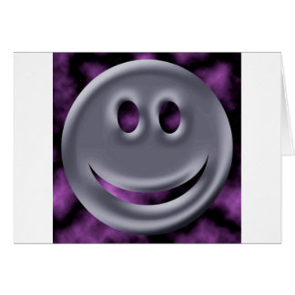 Abstract Colors Chrome Smile Card