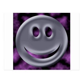 Abstract Colors Chrome Smile Post Card