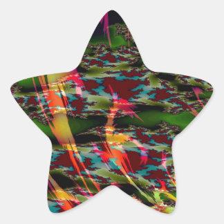 Abstract Colors Dark Custard Star Sticker