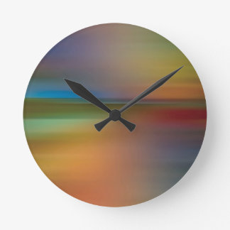 Abstract Colors Disco Funk Round Clock