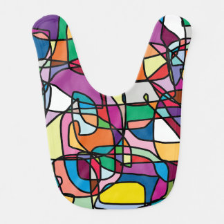 Abstract Colors Doodle Baby Bib