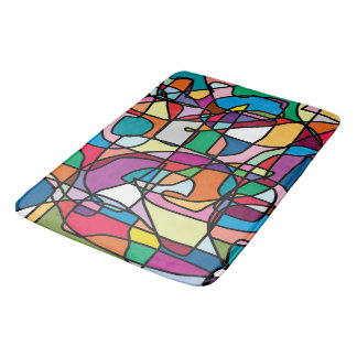 Abstract Colors Doodle Bathmat