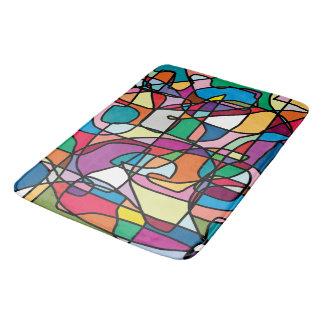 Abstract Colors Doodle Bathmat Bath Mats