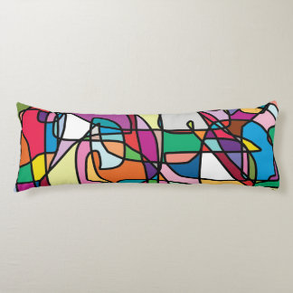 Abstract Colors Doodle Body Pillow