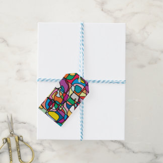 Abstract Colors Doodle Gift Tags
