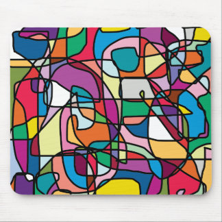 Abstract Colors Doodle Mousepad