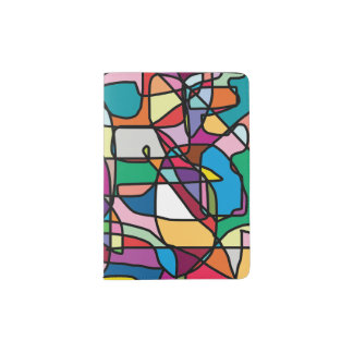 Abstract Colors Doodle Passport Holder