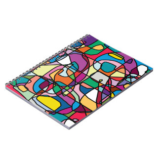 Abstract Colors Doodle Photo Notebook