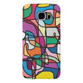 Abstract Colors Doodle Samsung S6 Case