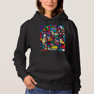 Abstract Colors Doodle Women's Hoodie
