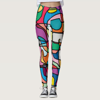 Abstract Colors Doodle Women's Leggings