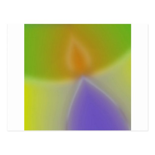 Abstract Colors Invaders Postcard