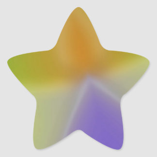 Abstract Colors Invaders Star Sticker