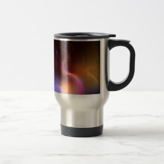 Abstract Colors Liquid Tenticles Stainless Steel Travel Mug