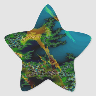 Abstract Colors Misty Forest Sticker