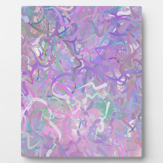 Abstract Colors of Pastel Photo Plaque