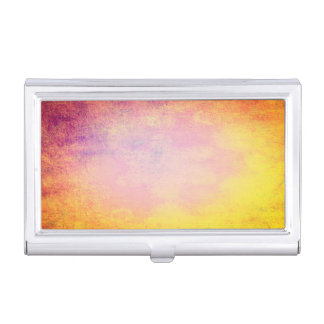 Abstract colors of summer sun business card holder