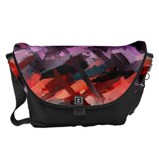 Abstract Colors Pastel Pattern 2 Courier Bag