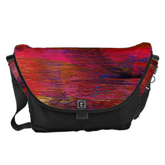 Abstract Colors Pastel Pattern Messenger Bags