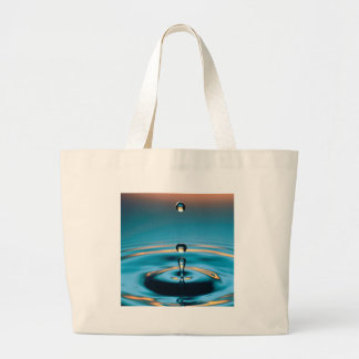 Abstract Colors Radiating Ripples Tote Bags