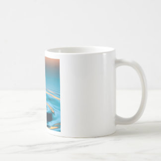 Abstract Colors Radiating Ripples Mugs