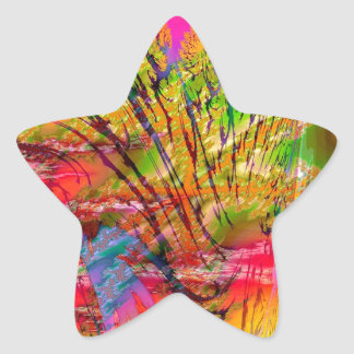 Abstract Colors Rock Canyon Star Stickers
