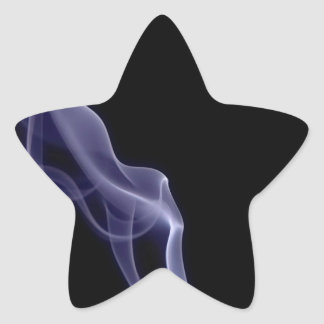 Abstract Colors Smoke Star Sticker
