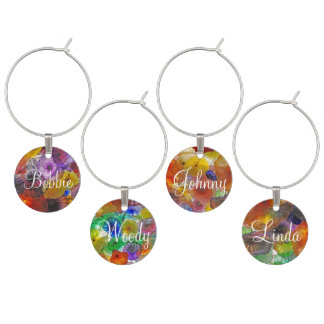 Abstract Colors Wine Charm