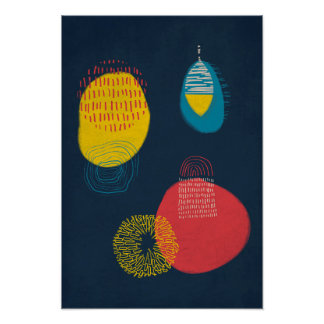 Abstract - Colour and pattern 1 Poster