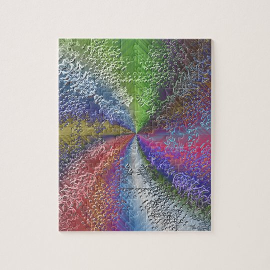 Abstract Colour Swirl Jigsaw Puzzle