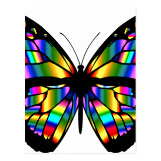 Abstract Coloured Butterfly Postcard