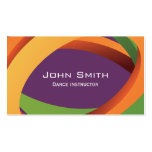 Abstract Coloured Curves Dance Business Card