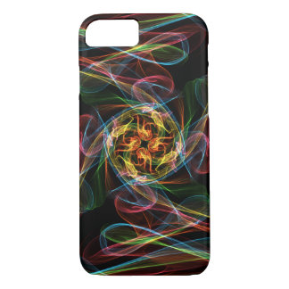 Abstract Coloured Flames iPhone 7 Case