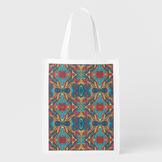 Abstract colourful hand drawn curly pattern design